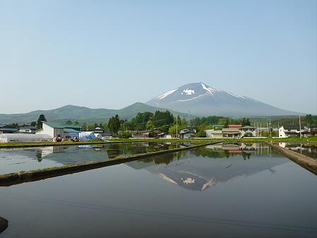 朝、田んぼがある風景02(2012.5.21)