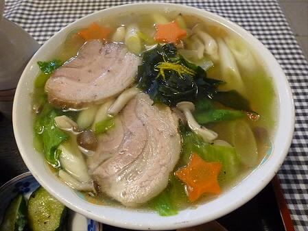 まるかん食堂の豆乳あとかけラーメン09(2012.5.24)