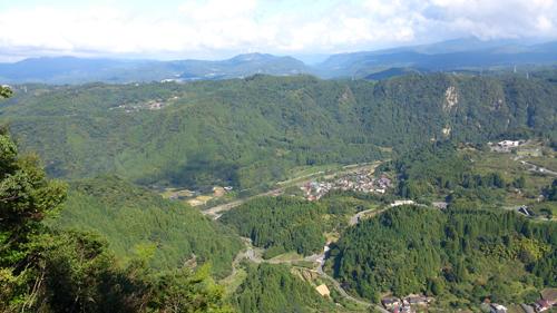 烏宿山、東展望台からの眺望