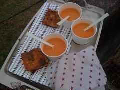 カニトマトスープ