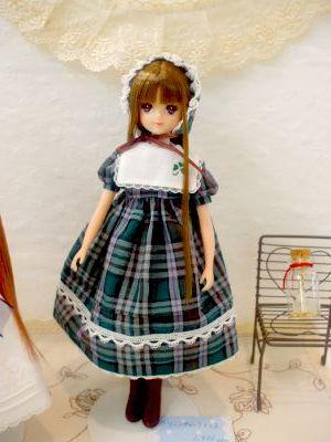 みんギャラ大阪 緑チェックドレス
