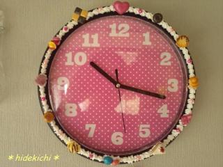 デコ壁掛け時計