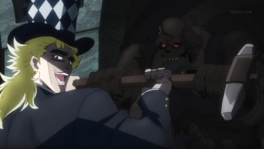 ジョジョの奇妙な冒険 第8話 血戦!JOJODIO.mp4_001039663
