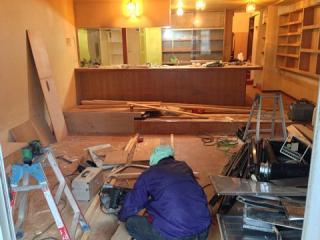 カフェ改装施工中