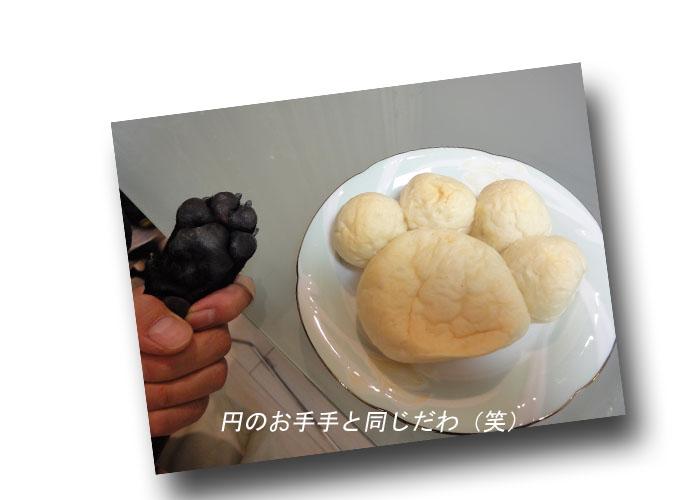 円肉球パン