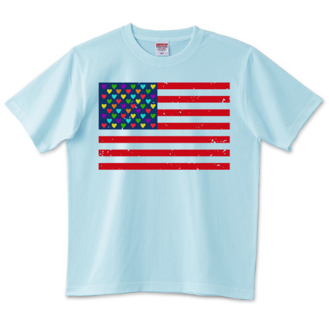 United States Of America Heart_t-shirts