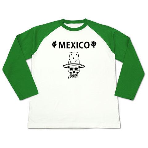 Mexico Skull_ラグランtシャツ