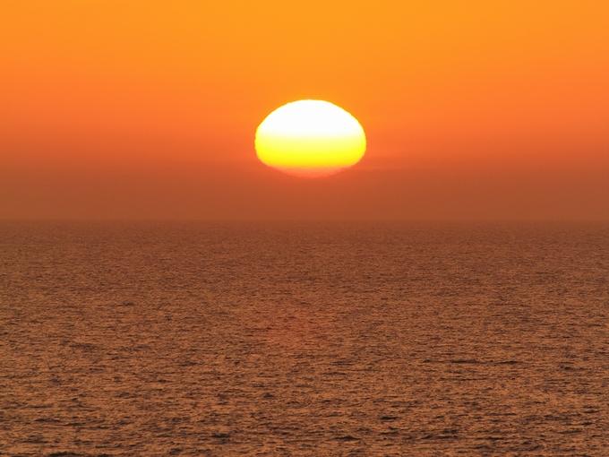 5月最終日の夕日 日本海にて