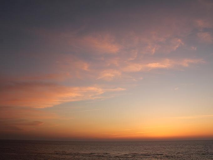 5月最終日の夕焼け 日本海にて