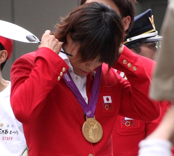 百万石行列 松本薫選手の金メダル
