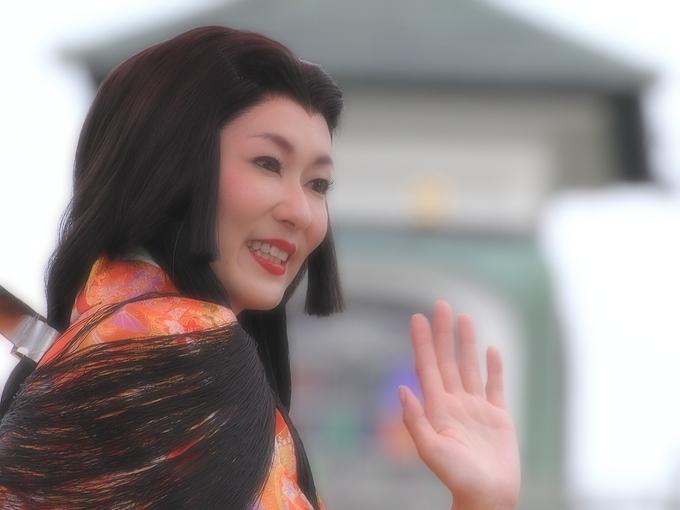 百万石まつり お松の方行列の大河内奈々子さん