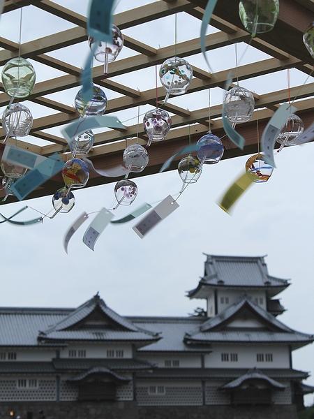 金沢城 風鈴が鳴り響く