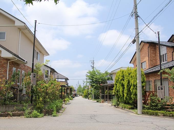 金沢市太陽が丘の街並み
