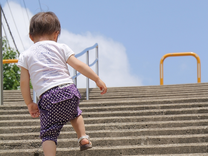 階段を登って 金沢市太陽が丘