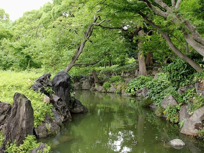 緑の多い清澄庭園 東京都江東区