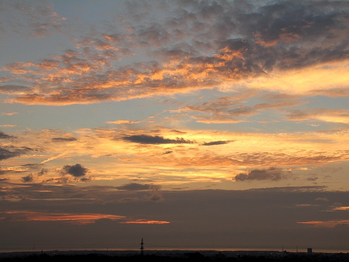 夏の夕空 金沢市太陽が丘より