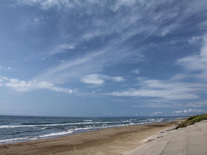 海の日 かほく市高松の海岸