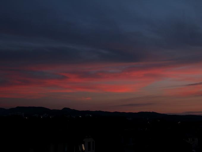 夏の夕焼け 金沢市太陽が丘より