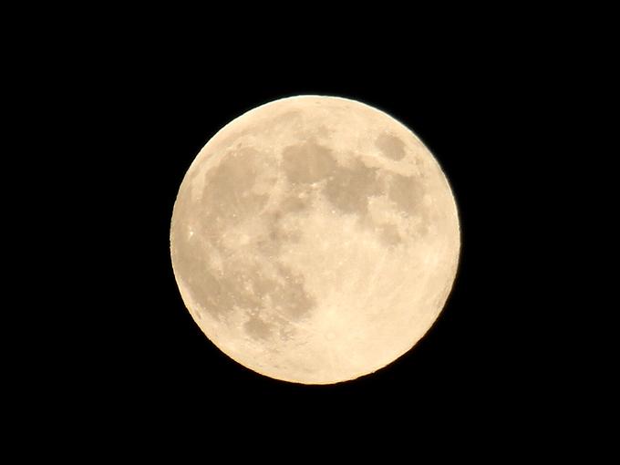 2013年の中秋の名月 満月でした