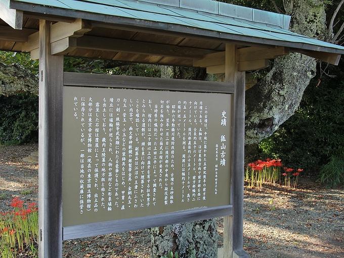 加賀市狐山古墳の案内看板
