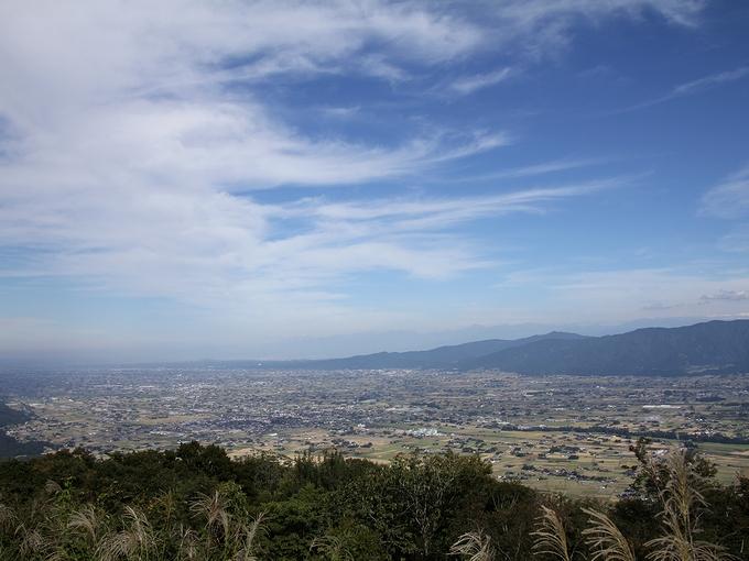 医王山国見展望台から見た砺波平野
