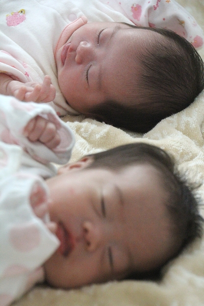 眠る双子姉妹