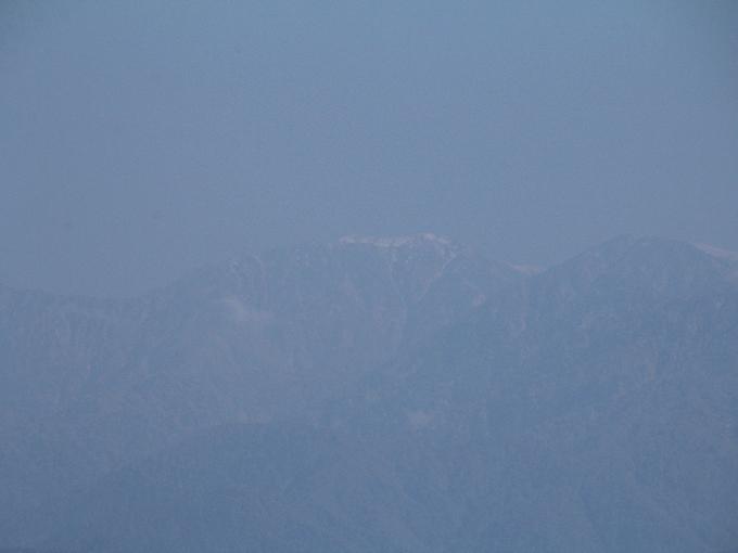 初冠雪立山連峰