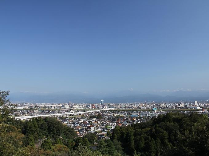 呉羽山展望台から見た富山市街