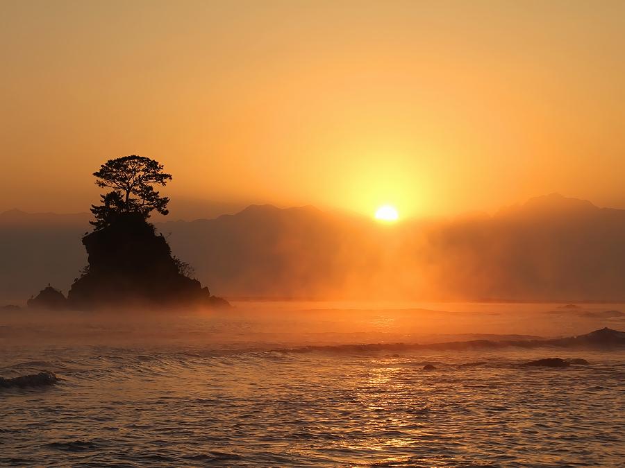 立山連峰の日の出
