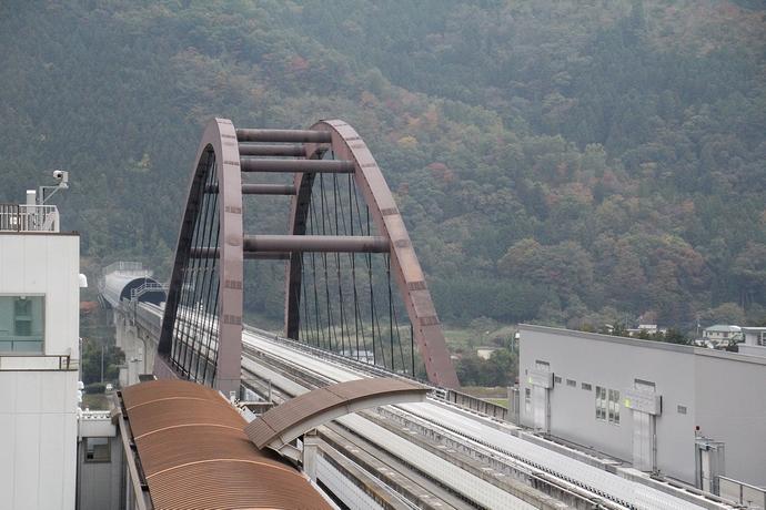 リニア見学センターより東京方面を眺める