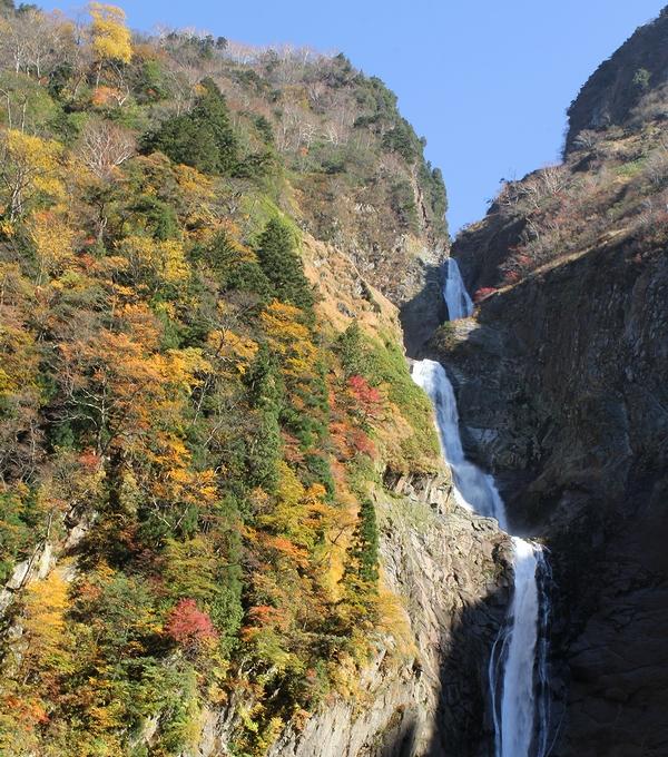 秋 紅葉の称名滝(2011年10月)