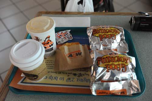 カルガリー空港での朝食