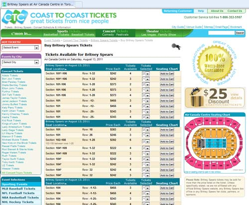 Coast to Coast Tickets