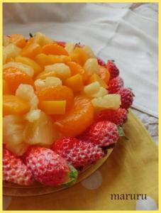 フルーツ缶タルト