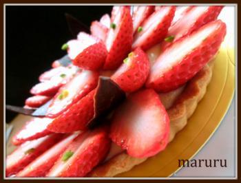 苺とカスタードのタルト