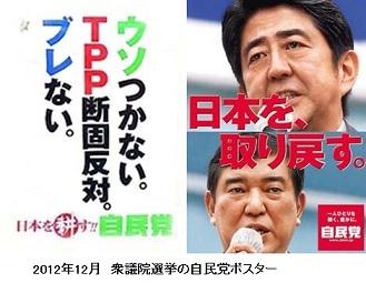 2012年12月 衆議院選挙の自民党ポスター