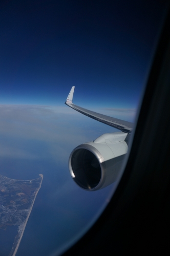 AA B757 window view