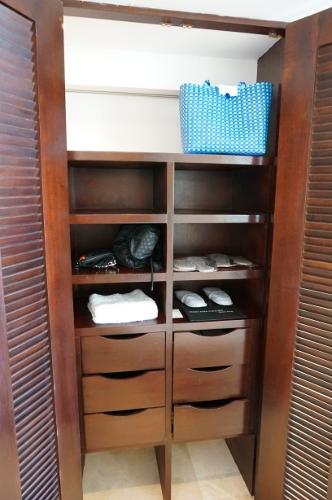 Aqua suite closet