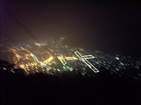 函館山 ハート夜景