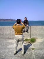 三豊市詫間町沖の赤灯台1