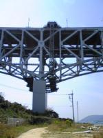与島で瀬戸大橋を下から眺める1