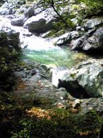 徳島県貞光川の土釜1