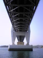 岩黒島の砂浜から見た瀬戸大橋5