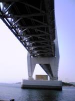 岩黒島の砂浜から見た瀬戸大橋4