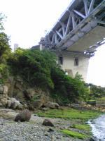 岩黒島の砂浜から見た瀬戸大橋2