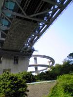岩黒島から見上げた瀬戸大橋5