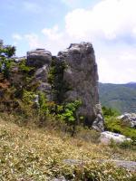 塔ノ丸登山道の奇岩の風景2