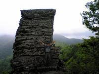 徳島県石堂山御塔石でバンザイ1