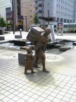 JR富山駅から歩いてホテルへ1