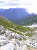 立山一の越から雄山頂上1